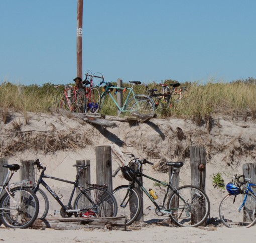 biker beach, sustainable weekend, new york city, bike friendly, design squish blog