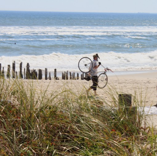 bike ride to the beach, fort tilden, far rockaway, design squish blog