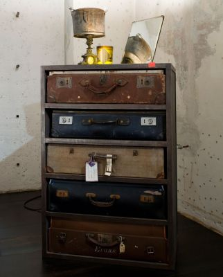 furniture from old suitcases, design squish blog