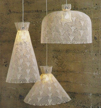 crocheted lampshades, design squish blog