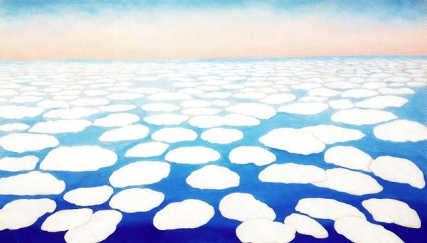 sky above clouds, georgia o'keeffe, design squish blog