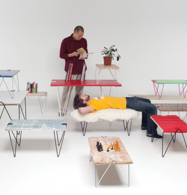 universal leg system for tables and benches, design squish blog