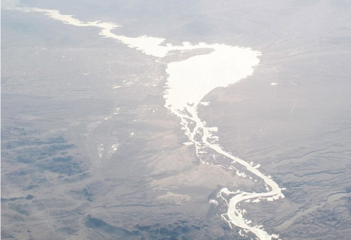 landscape, photograph from above, river