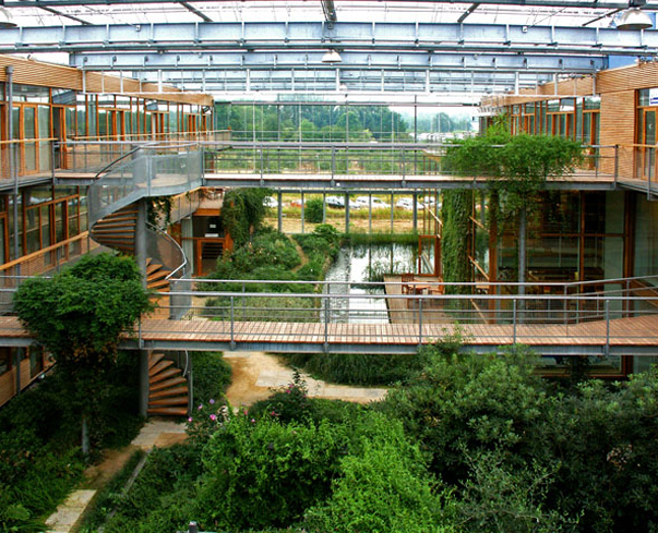 Behnisch IBN Wageningen atrium, green architecture