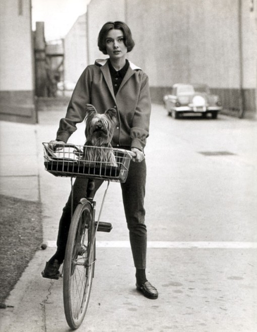 AUDREY HEPBURN ON A BIKE, design squish blog