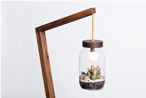 autumn workshop, terrarium floor lamp, design squish blog