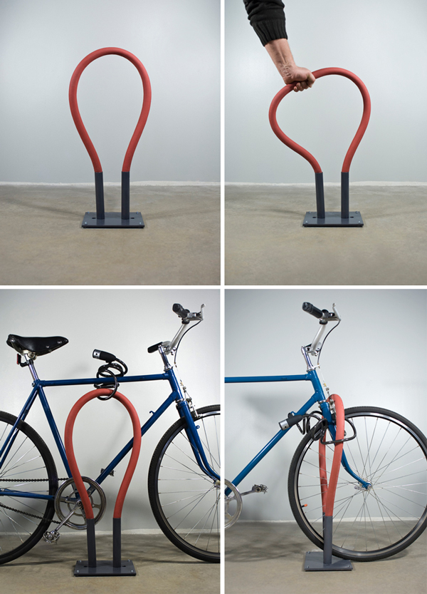 bendable bike rack, design squish blog