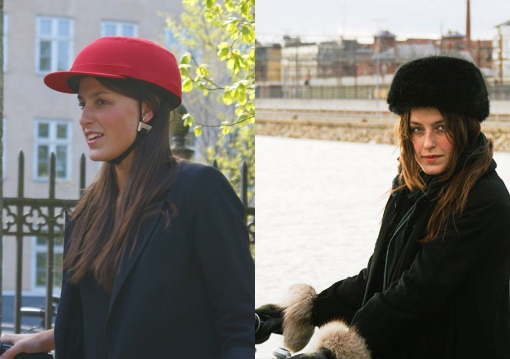 fashionable bike helmets from europe