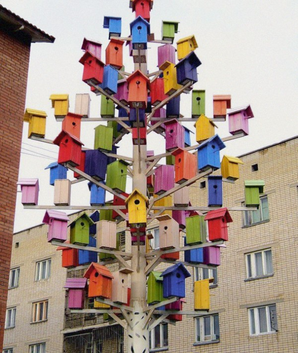 bird tree houses, design squish blog