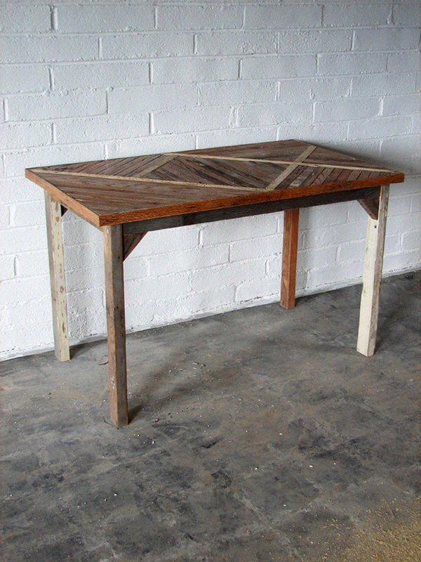 salvaged wood table, brooklyn to west, design squish blog