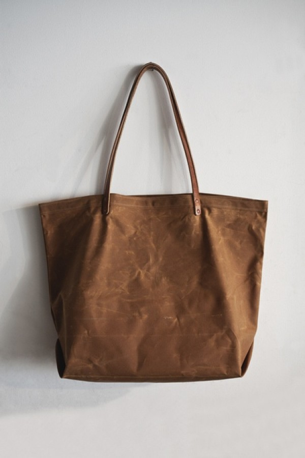 etwas largewaxed canvas tote bag, design squish blog