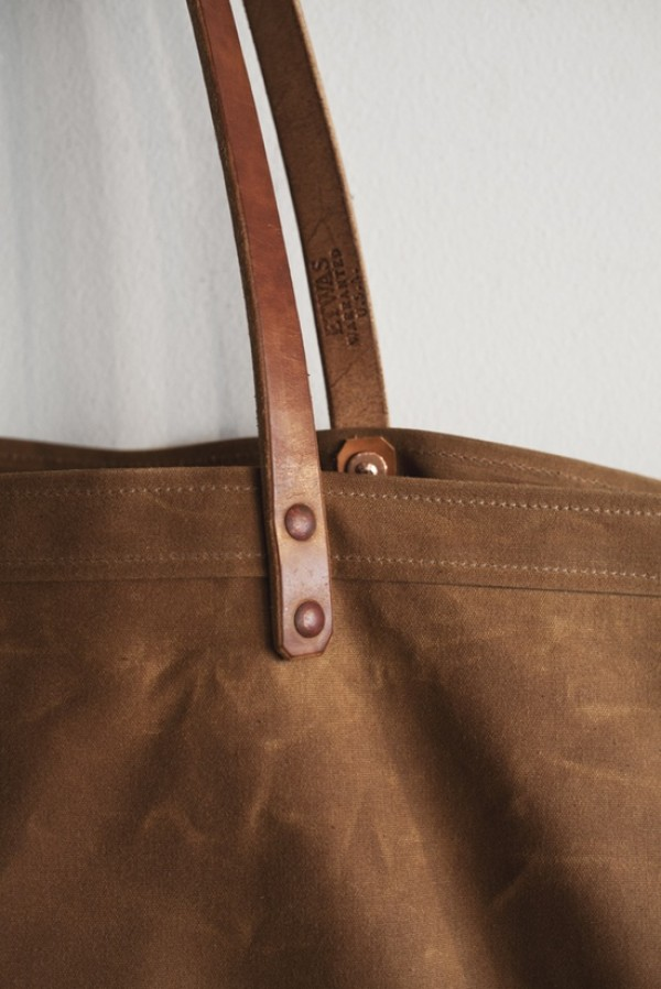etwas largewaxed canvas tote bag detail, design squish blog