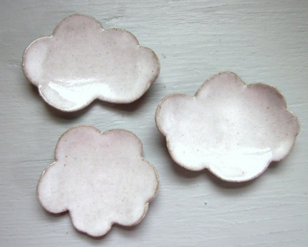 ceramic cloud shaped plates, craft, design squish blog