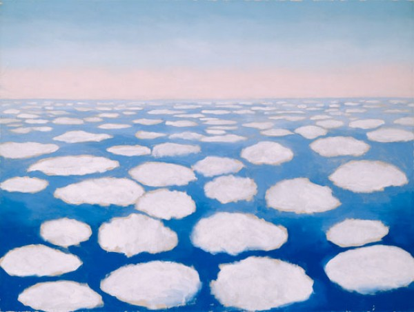 clouds by georgia o'keeffe, design squish blog