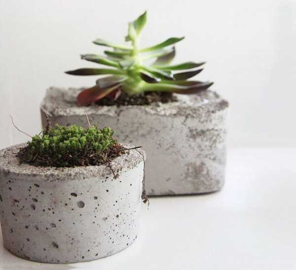 concrete planters, design squish blog