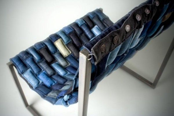 design squish blog, upcycled denim chair
