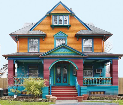 colorful ditmas park house