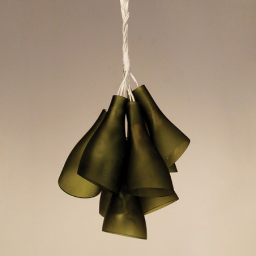 upcycled bottles chandelier, yoon bahk, design squish blog