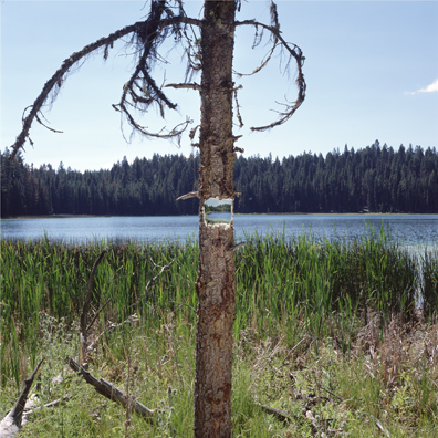 little blue lake, photograph, painting, kevin schmidt