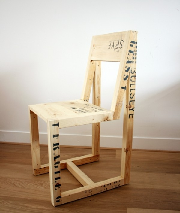 upcycled shipping pallet chair, design squish blog