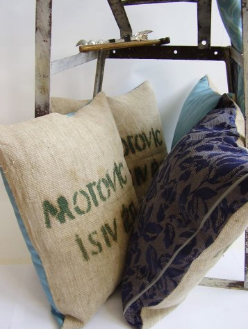 pillows from produce sacks