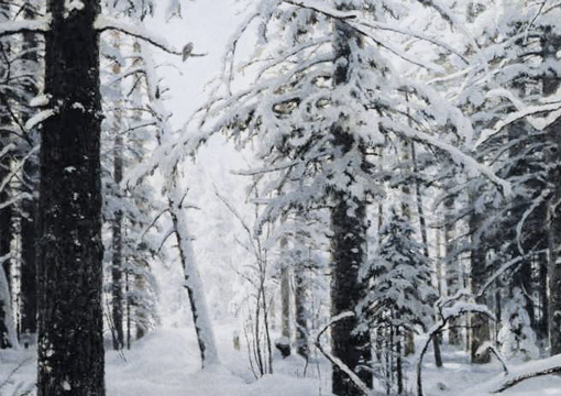 Ivan shishkin, Winter detail