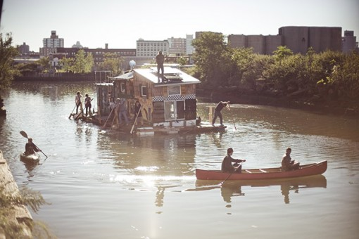 gowanus canal cleanup, jerko water vacuum, houseboat, design squish blog