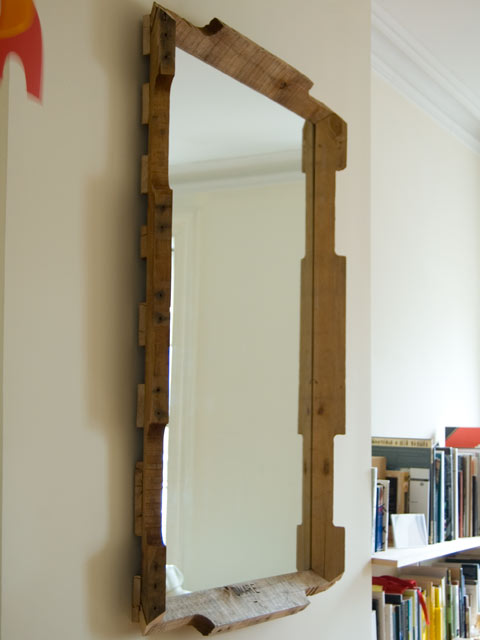 karl zahn, upcycled shipping pallet mirror, pallet redesign, design squish blog