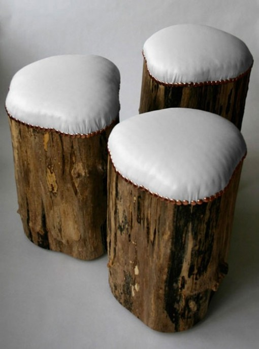 stump stools, design squish blog