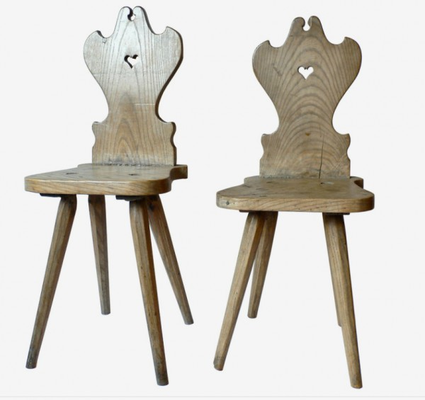 peg and mortis folk art chairs, design squish blog