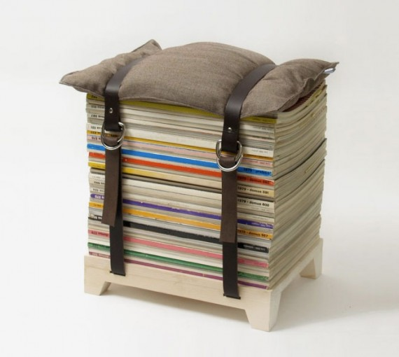 magazine stool, design squish blog