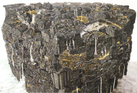 paintings by ikeda manabu, stunning, drawings, design squish blog