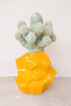 contemporary sculpture, matt wedel, ceramics, flower tree, design squish blog