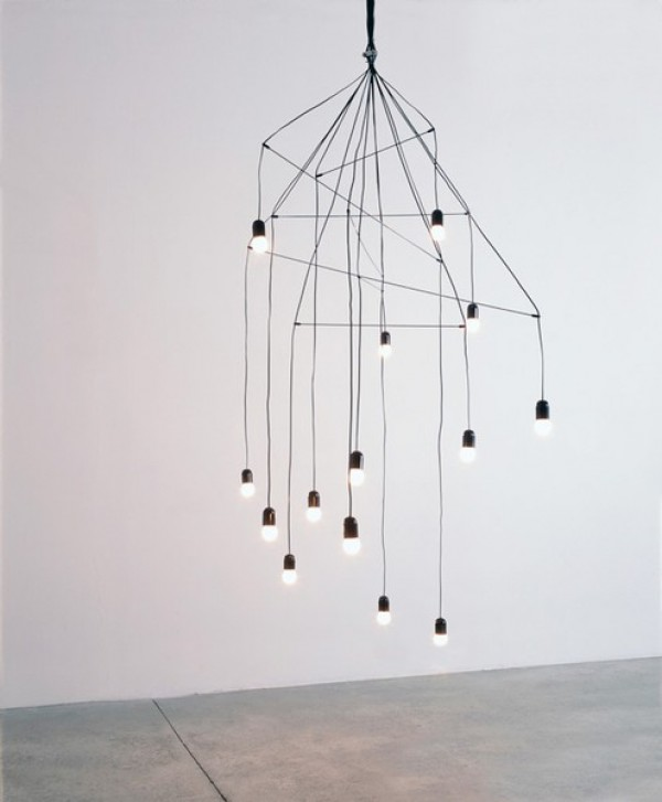 minimal chandelier by arik levy, design squish blog