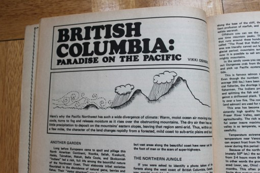 vintage mother earth news magazine, berries of british columbia, design squish blog