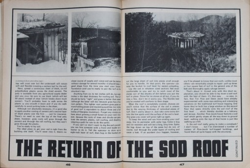 mother earth news, sod roof, design squish blog