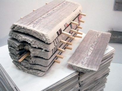 news paper wood