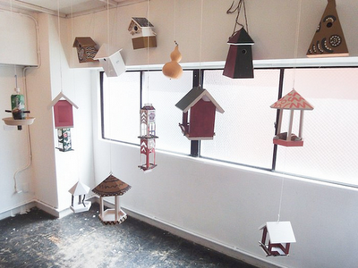 unconventional bird houses made from odd objects, design squish blog