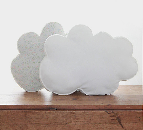 organic cotton fabric white cloud pillow, design squish blog