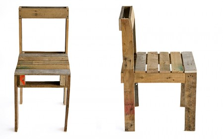 reused shipping pallet chair