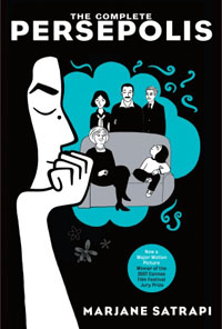 persepolis book cover, political graphic novel, design squish blog