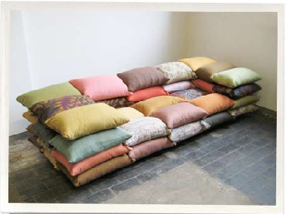 sofa couch made of pillows!, design squish blog