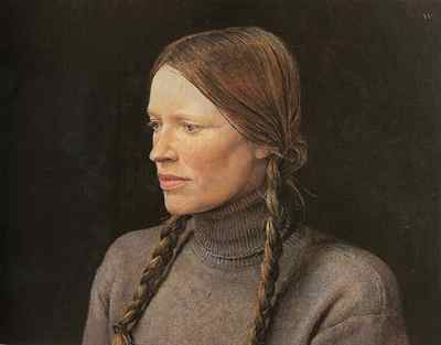 realistic watercolor portrait, andrew wyeth - best watercolor artist ever