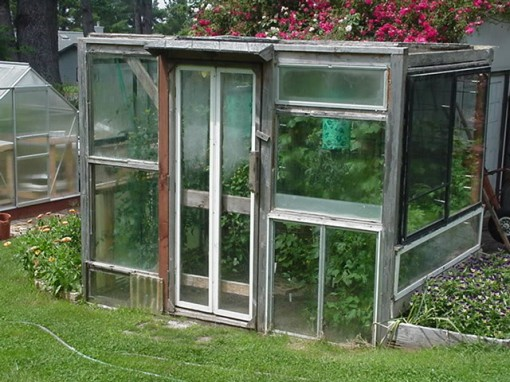 upcycling old windows into greenhouse, design squish blog
