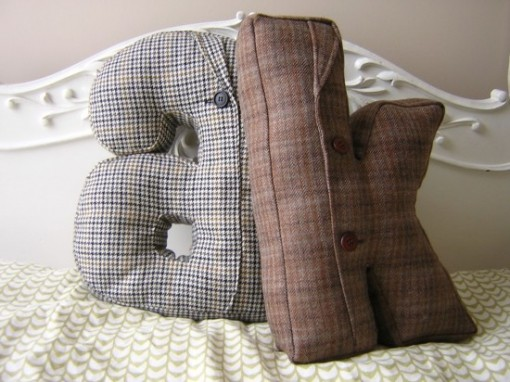 recycled jacket pillow