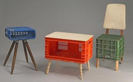 recycled crates furniture