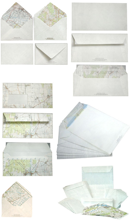 recycled map envelopes
