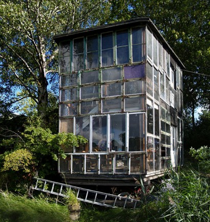 Modern house from recycled windows, Christiania
