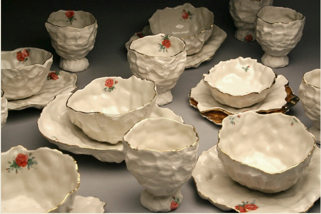 rustic Elegance ceramic cups and plates by Zena Verda Pesta