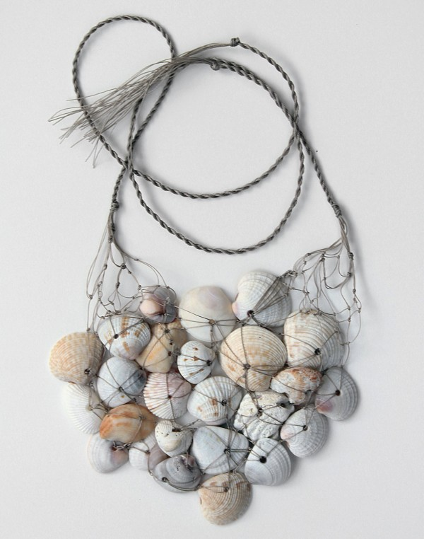 seashell necklace, rope, net, design squish blog